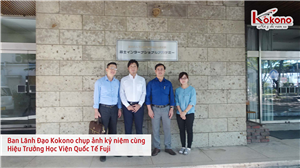 Lãnh Đạo Kokono Làm Việc Với Học Viện Quốc Tế Fuji