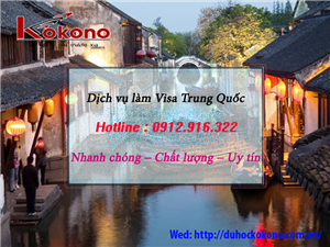 Dịch vụ làm Visa Trung Quốc tại Huyện Vĩnh Bảo TP. Hải Phòng Của Kokono